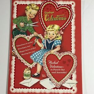 Vintage Valentine's - full booklet + envelopes